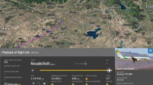 Moritanya Uçağı Erzurum'a İndi