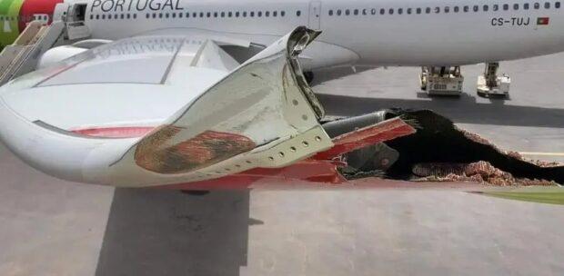 Yolcu Uçağı Elektrik Direğine Çarptı