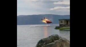 Video – Yangın Söndürme Helikopteri Böyle Düştü