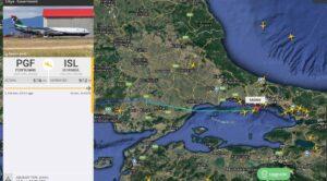 Kaddafi'nin Özel Uçağı İstanbul'da