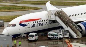 Boeing 787'nin Burun İniş Takımı Kırıldı