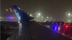 İki Uçak Yerde Çarpıştı