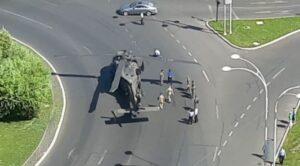 amerikan Helikopteri Şehir İçinde Mecburi İniş Yaptı
