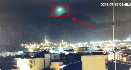 Video – İzmir'e Meteor Düştü