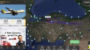 ACT Kargo Uçağı Geri Döndü