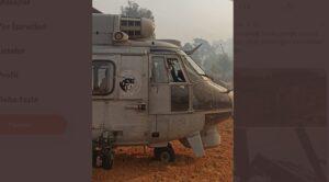 Yangında Mahsur Kalan Vatandaş Helikopterle Kurtarıldı