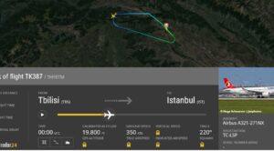 THY Tiflis – İstanbul Uçağı Geri Döndü