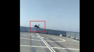 Video – Savaş Uçağı Gemiyi Teğet Geçti