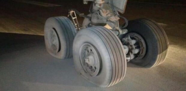 Kargo Uçağının Lastikleri Patladı