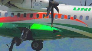 Video – Yolcu Uçağı Patlak Lastikle Böyle İndi