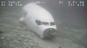 Okyanusa Düşen Uçak Görüntülendi
