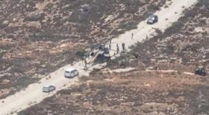 israil Apache Helikopteri Mecburi İniş Yaptı