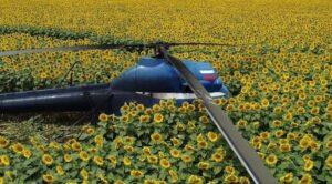 Özel Helikopter Tarlaya Mecburi İniş Yaptı