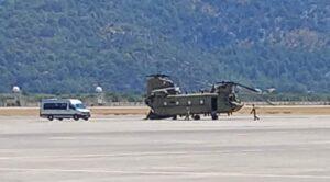 amerikan Chinook Helikopterleri Dalaman Havalimanı'nda