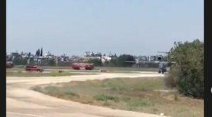 Yangın Söndürme Uçağı Adana'ya Acil İniş Yaptı