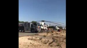 Yangın Söndürme Helikopterleri Yakıt İkmali Yapıyor