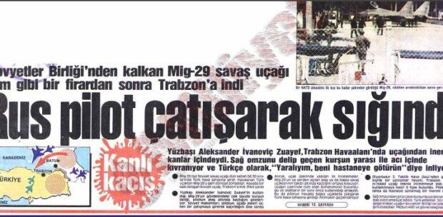Trabzon'a Kaçırılan Sovyet Mig-29 Uçağı